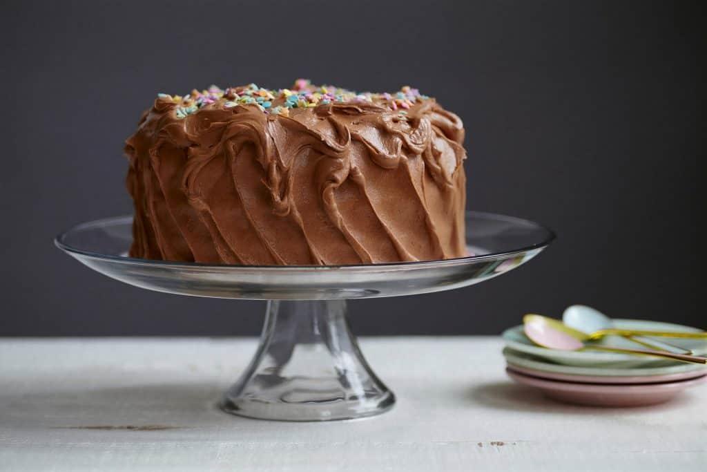 Freeze Chocolate Cake with Ganache